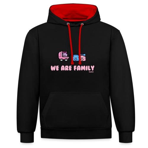 We Are Family - Girl - Kontrast-Hoodie