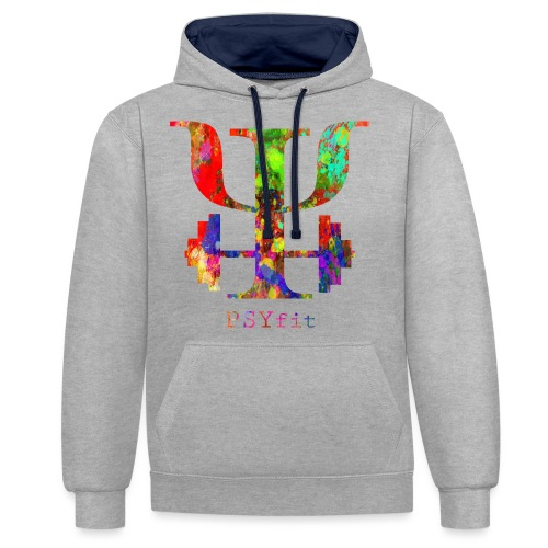 Watercolour splatter - Contrast Colour Hoodie