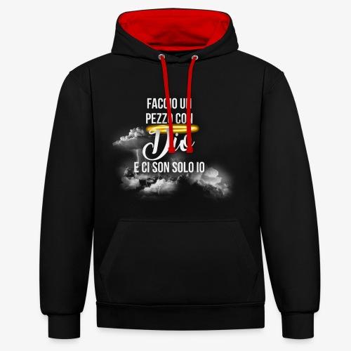 Rap Art Brand - Felpa con cappuccio bicromatica