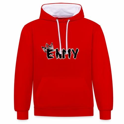 Enmy Grey Sweatshirt - Contrast Colour Hoodie