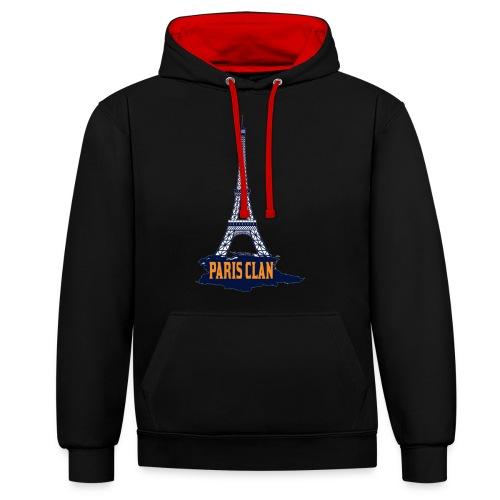 Paris Eiffel - Contrast Colour Hoodie