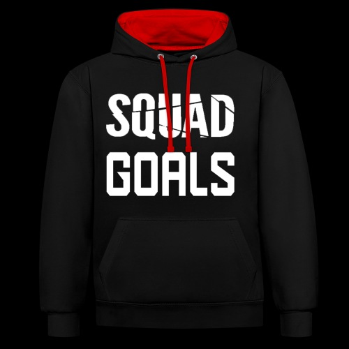 squad goals - Contrast hoodie