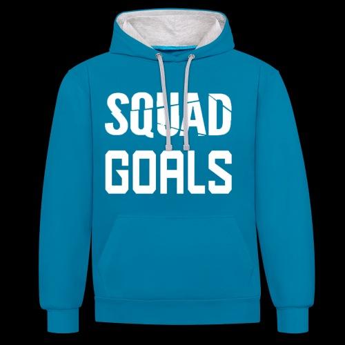 squad goals - Contrast hoodie