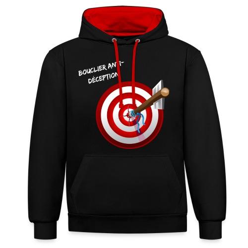 Bouclier anti-déception - Sweat-shirt contraste