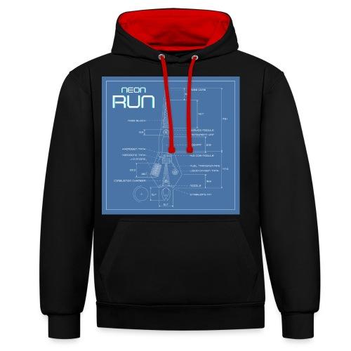 NeonRun blueprint - Contrast hoodie