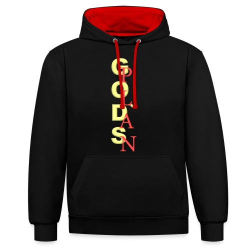 God's Plan Merchandise von The Friday - Kontrast-Hoodie