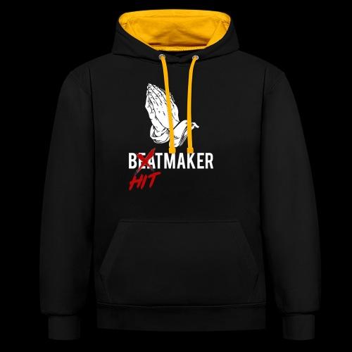 HitMaker Blanc - Sweat-shirt contraste