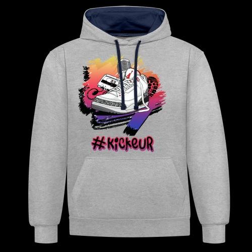 #Kickeur Noir - Sweat-shirt contraste