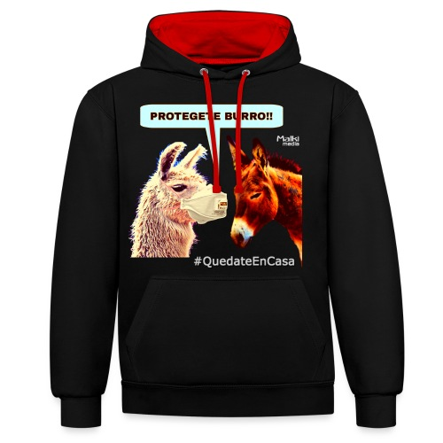 PROTEGETE BURRO - Sweat-shirt contraste