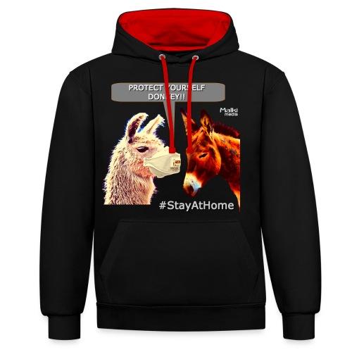 Protect Yourself Donkey - Coronavirus - Sweat-shirt contraste