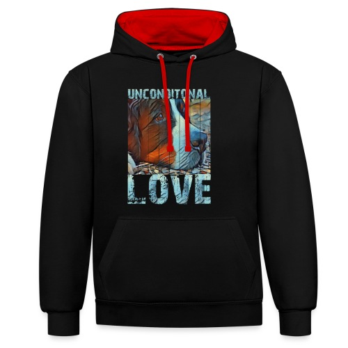 Bernese mountain dog - Contrast hoodie
