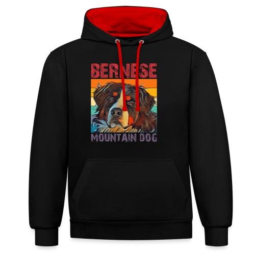 Bernese mountain dog - Contrast hoodie