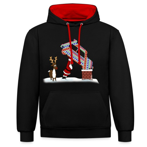 Ministox Christmas Delivery - Contrast Colour Hoodie
