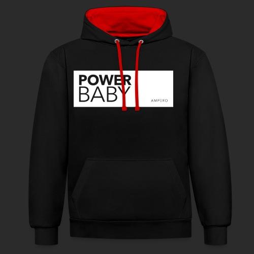 AMPERO Power Baby - Kontrast-Hoodie