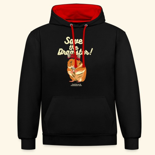 Whisky T Shirt Save the Dramster! - Kontrast-Hoodie