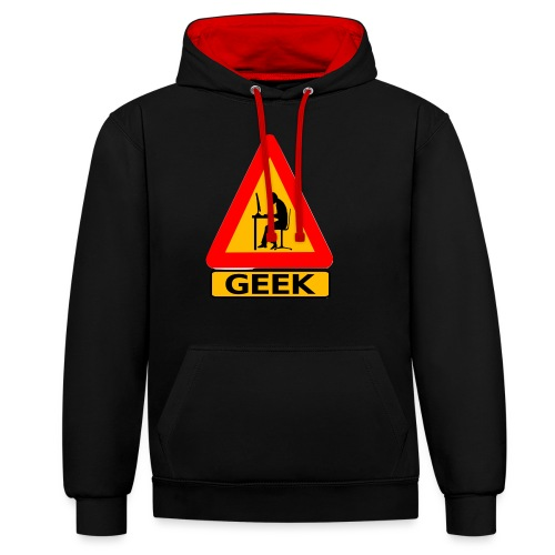 geek_warning - Sweat-shirt contraste