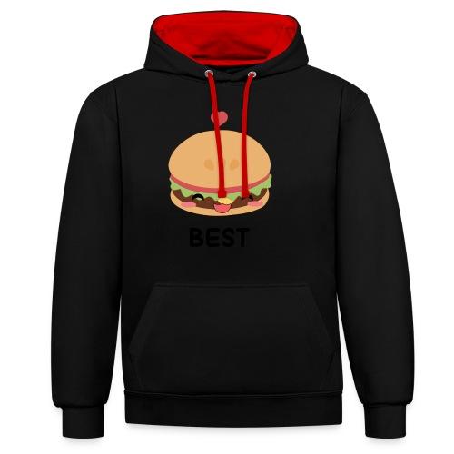 hamburger - Felpa con cappuccio bicromatica