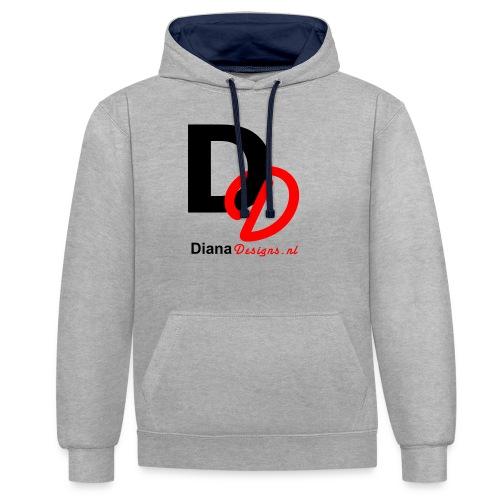 logo_diana_designs-nl - Contrast hoodie