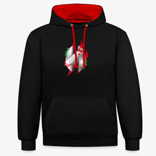 3 - Contrast Colour Hoodie