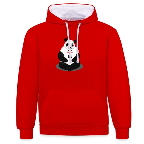panda hd - Sweat-shirt contraste