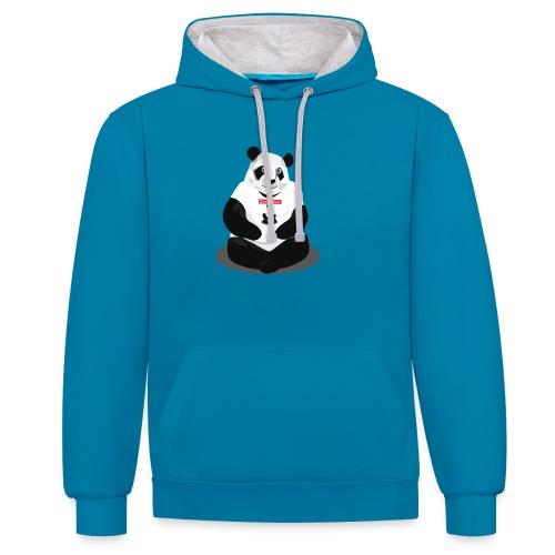 panda hd - Sweat-shirt contraste