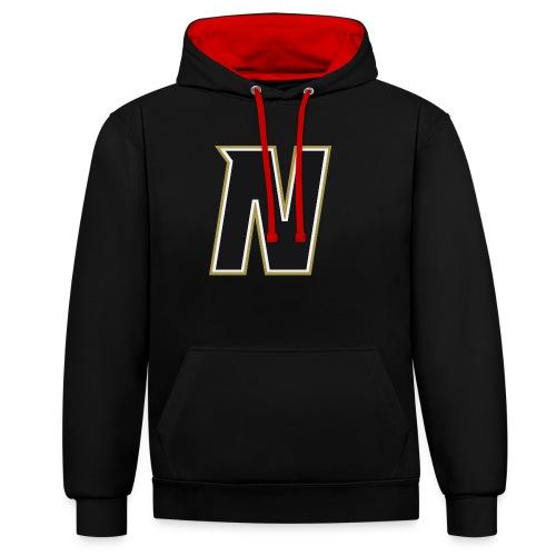 Nordic Steel Black N - Contrast Colour Hoodie