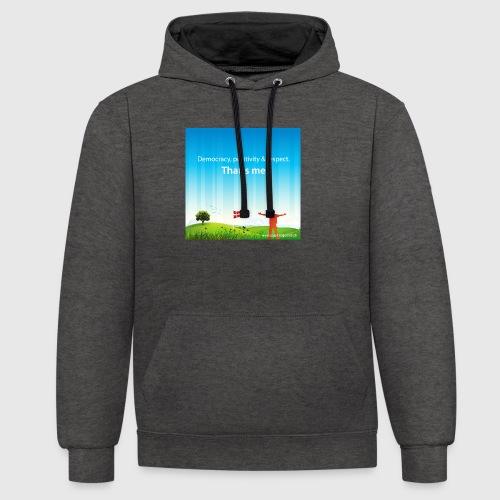 Rolling hills tshirt - Kontrast-hættetrøje