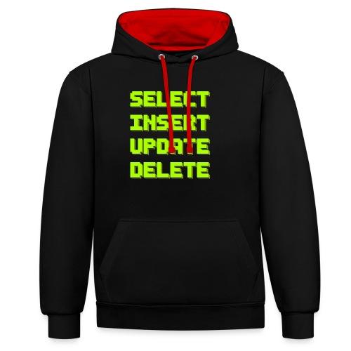 SQL pixelart black - Kontrast-Hoodie
