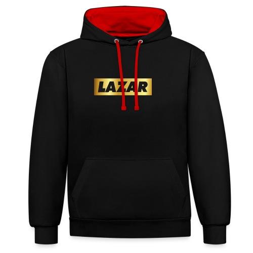 00396 Lazar dorado - Sudadera con capucha en contraste