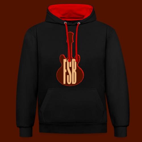 FSB Guitar Logo - Contrast Colour Hoodie