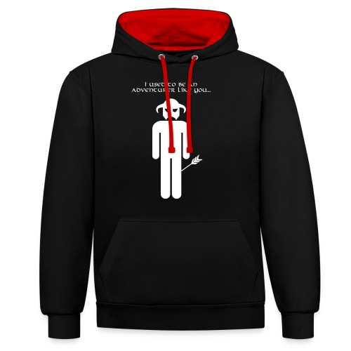 I used to be an adventurer like you... - Contrast Colour Hoodie