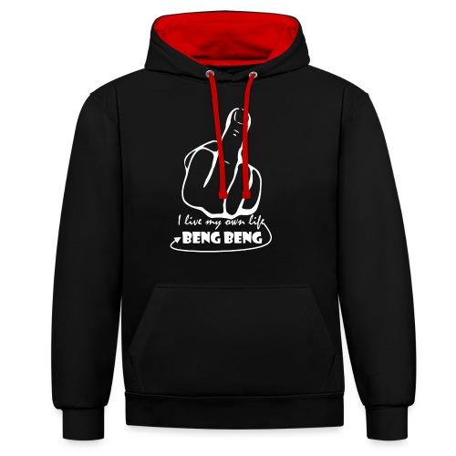 ontwerpwit png - Contrast hoodie