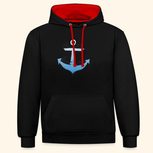 Be my anchor weiß Herren - Kontrast-Hoodie