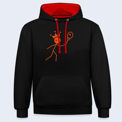 Tenniskoning - Contrast hoodie