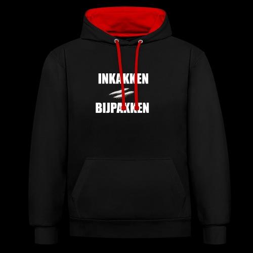 INKAKKEN IS BIJPAKKEN - Contrast hoodie