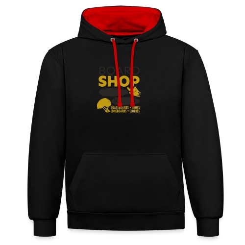 Boardshop - Contrast Colour Hoodie