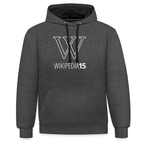 W, rak, svart - Kontrastluvtröja