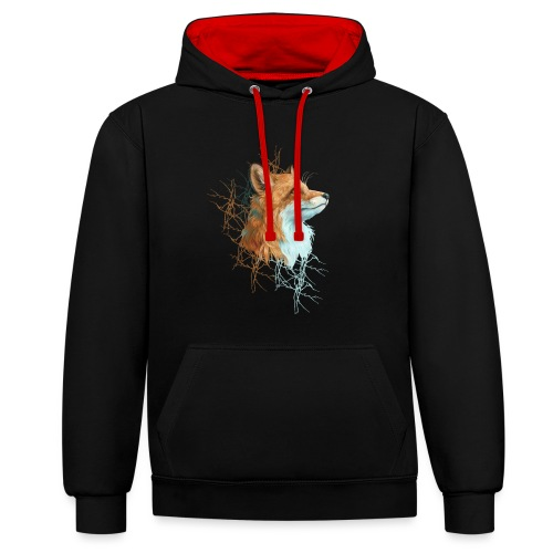 Happy the Fox - Kontrast-Hoodie