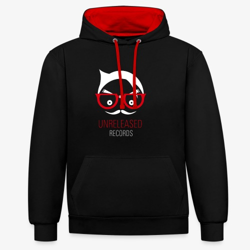 red png - Contrast Colour Hoodie