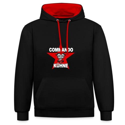 Commando Kühne - Kontrast-Hoodie