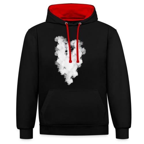 Smoke Logo - Contrast Colour Hoodie