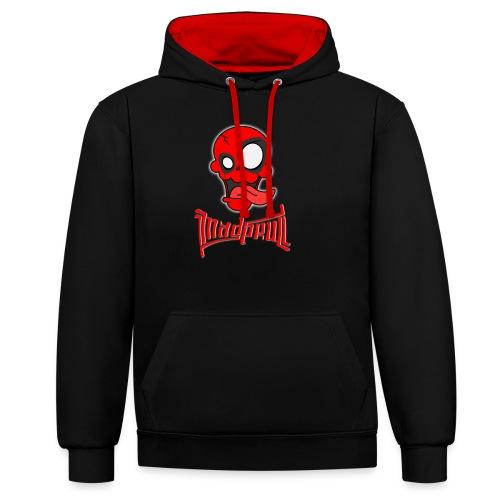 MAD SKULL - Deadpool - Felpa con cappuccio bicromatica