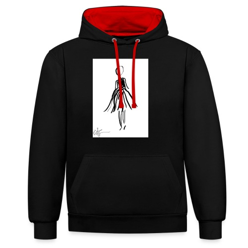 Lady - Contrast Colour Hoodie