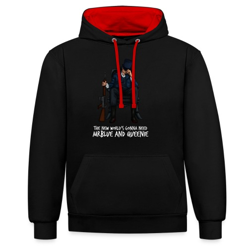 MrBlue's New World - Contrast Colour Hoodie