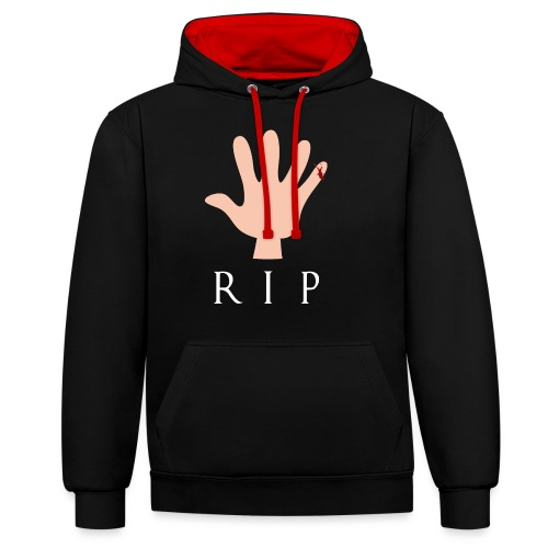 RIP Littlefinger - GoT - Kontrast-Hoodie