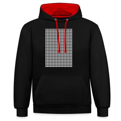 pied de poule v12 final01 - Contrast hoodie