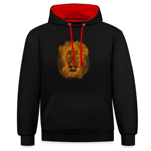 lionking (orange) - Contrast Colour Hoodie