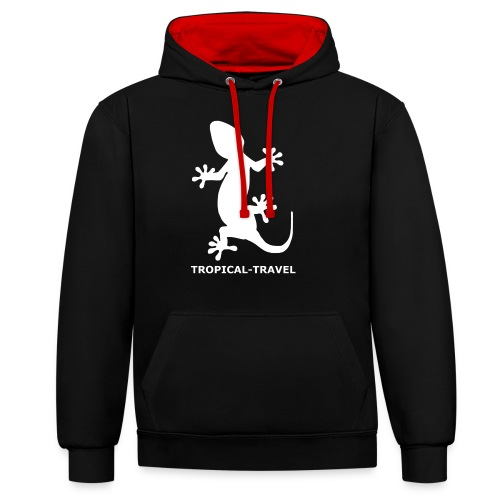 tropical-travel - Kontrast-Hoodie