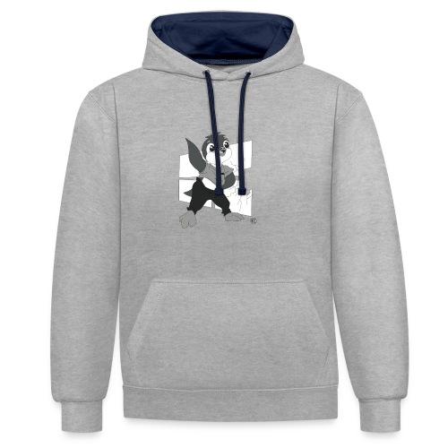 Le pingouin de Nice - Sweat-shirt contraste
