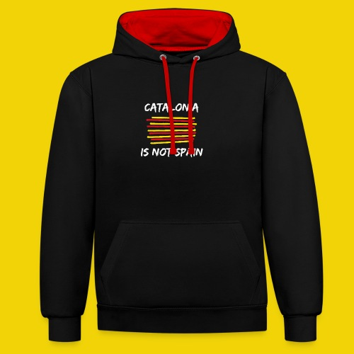 Catalonia Scratch - Contrast Colour Hoodie